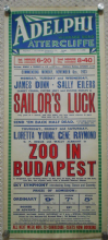 Sailors Luck/Zoo in Budapest, UK film poster, Loretta Young, '33